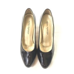 Hush Puppies Black Pumps Work Shoes 8 1/2 Wide